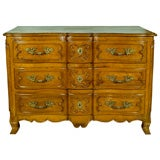 Louis XV Period French Walnut Commode 3 Drawer Chest