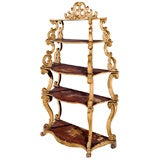 """5 tier Italian """"Venetian"""" Carved and Painted Stand Rococco"""