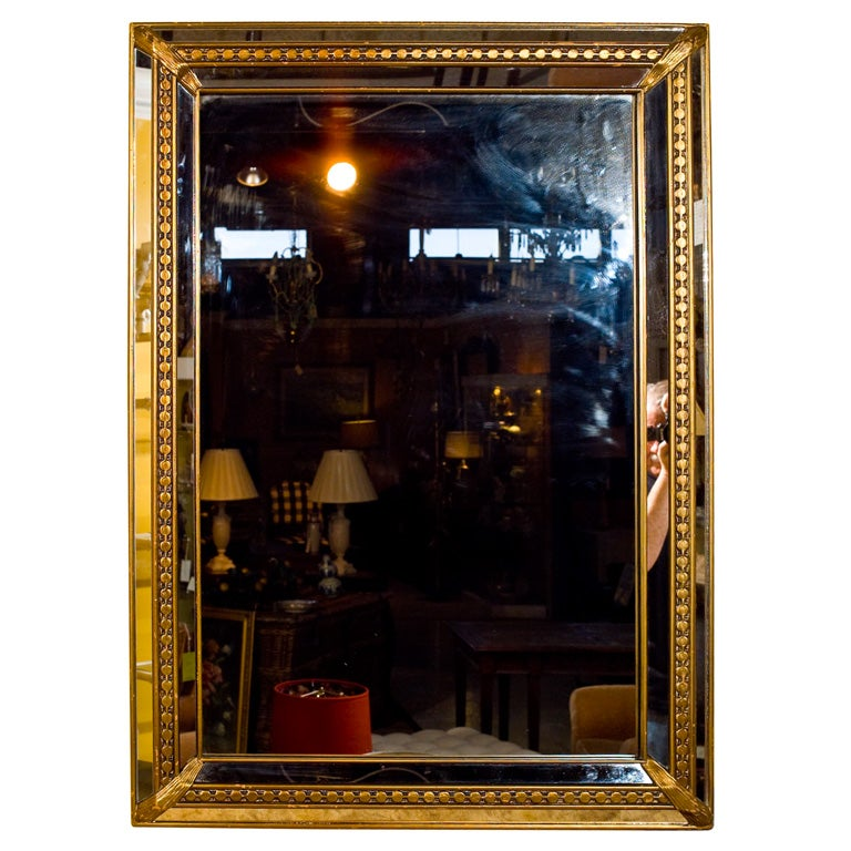 Detailed Gold Trim Mirror At 1stdibs