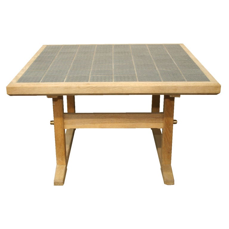 Oak Cocktail Table With Ceramic Tiles By Jens Quistgaard At 1stdibs