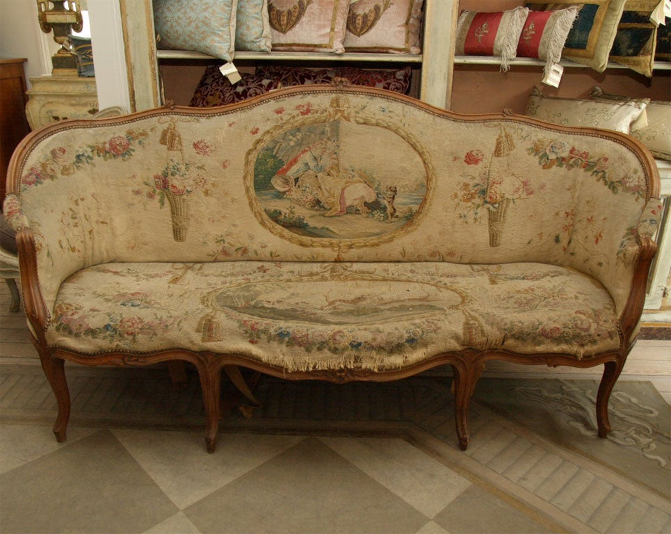 Louis xv corbeille canape at 1stdibs for Canape louis 15