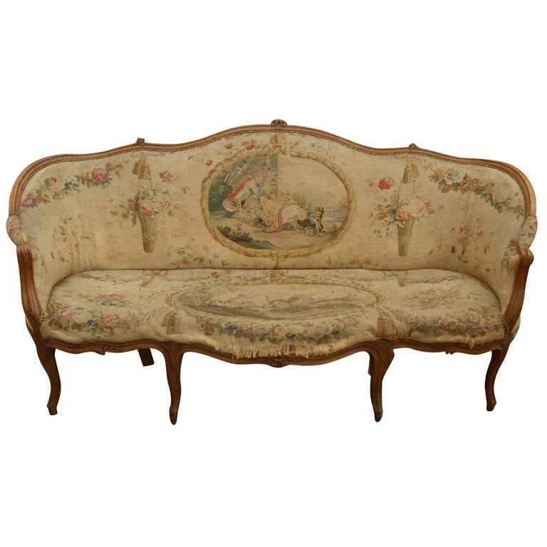 Louis xv corbeille canape at 1stdibs for Louis xv canape sofa