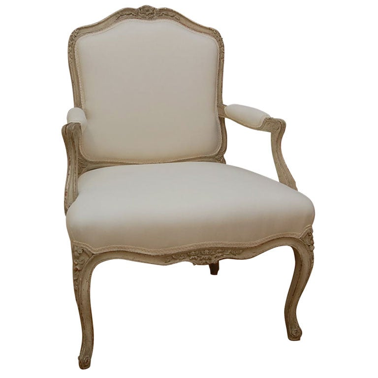 Louis Xv Style Fauteuil At 1stdibs