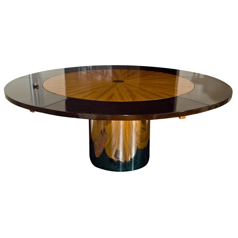 mid century round dining table at 1stdibs. Black Bedroom Furniture Sets. Home Design Ideas