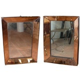 Two 1940s Mirrors with Pink Mirror Frame