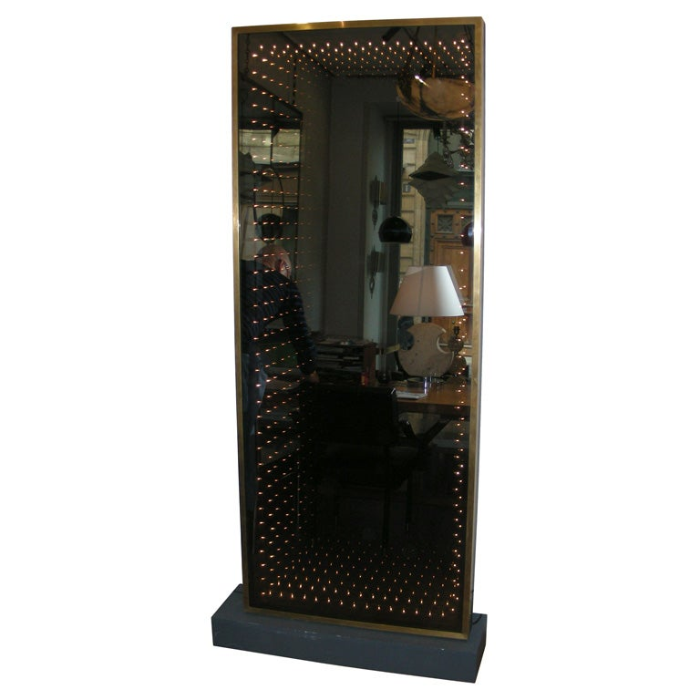 Large 1970 1980 Italian Lighted Mirror At 1stdibs