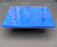 Rare Modern Coffee Table with Paint Pigments by Yves Klein thumbnail 2