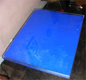 Rare Modern Coffee Table with Paint Pigments by Yves Klein thumbnail 6