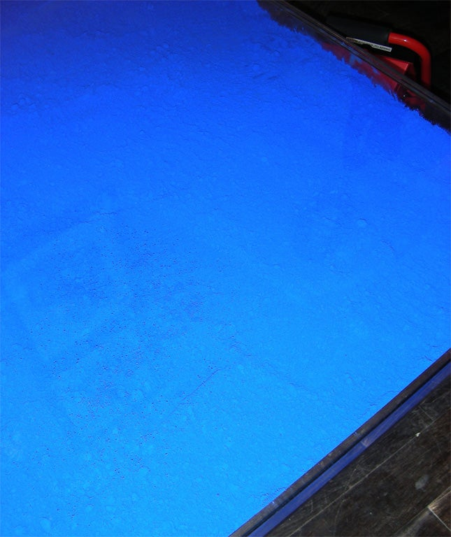 Rare Modern Coffee Table with Paint Pigments by Yves Klein image 7