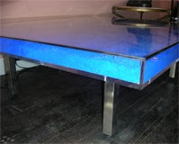 Rare Modern Coffee Table with Paint Pigments by Yves Klein thumbnail 8