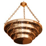 American Art Deco Silver-Plated Ceiling Light