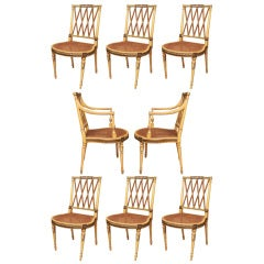 Fine Set of 8 Sheraton Dining Chairs