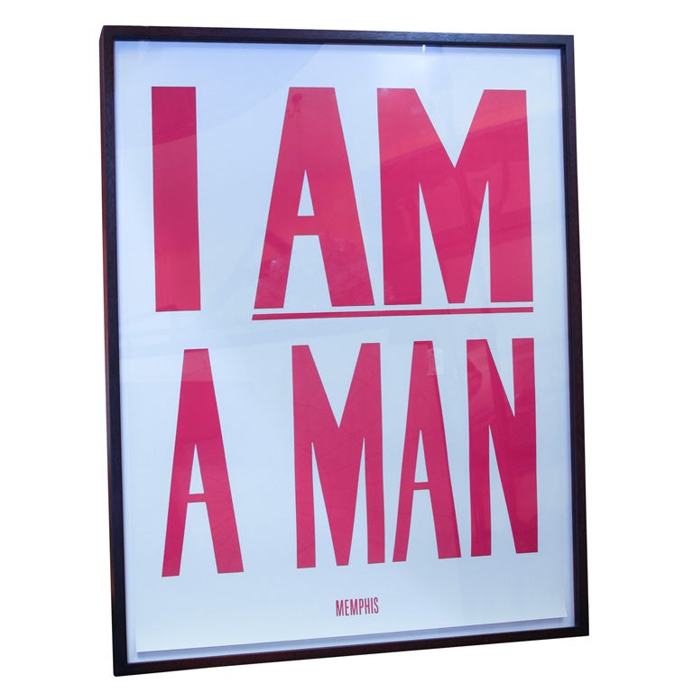 Am a man print from 1968 mlk memphis sanitation workers strike at