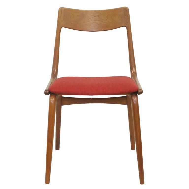 Teak Boomerang Dining Chairs at 1stdibs