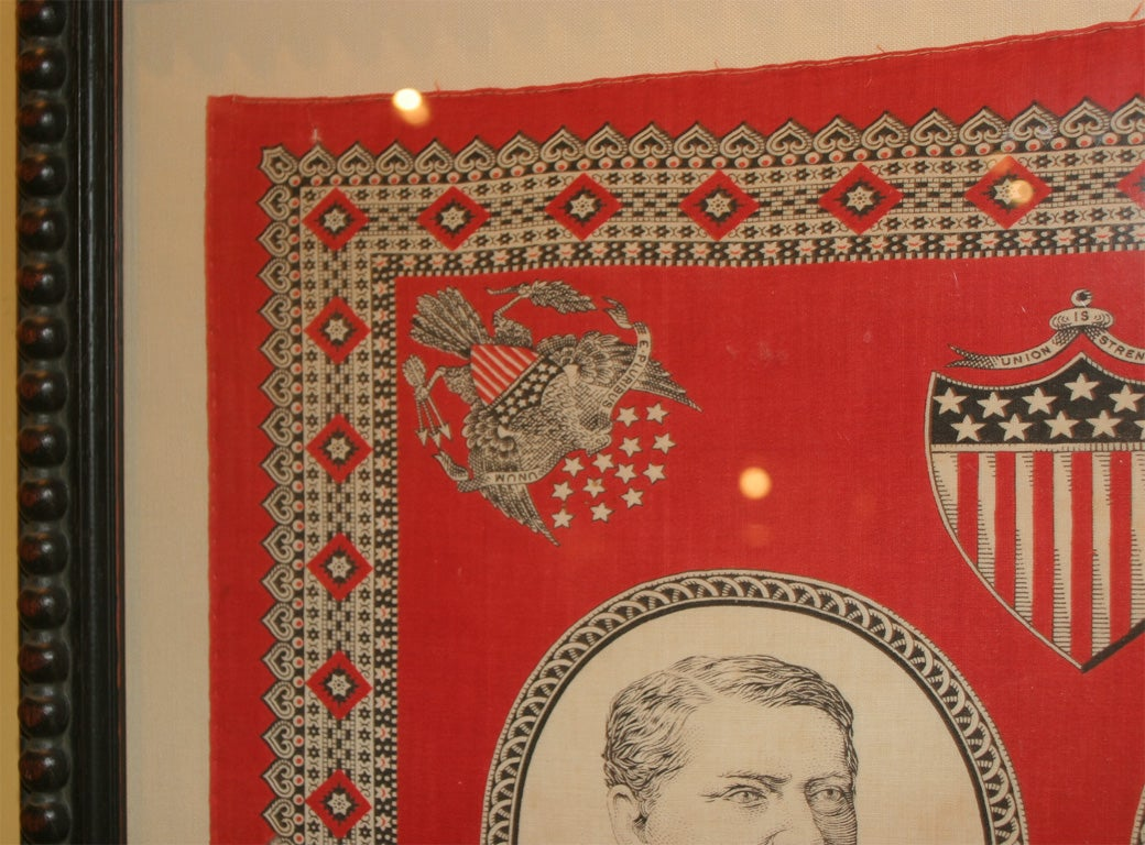 American Campaign Bandanna:  Hancock and English For Sale