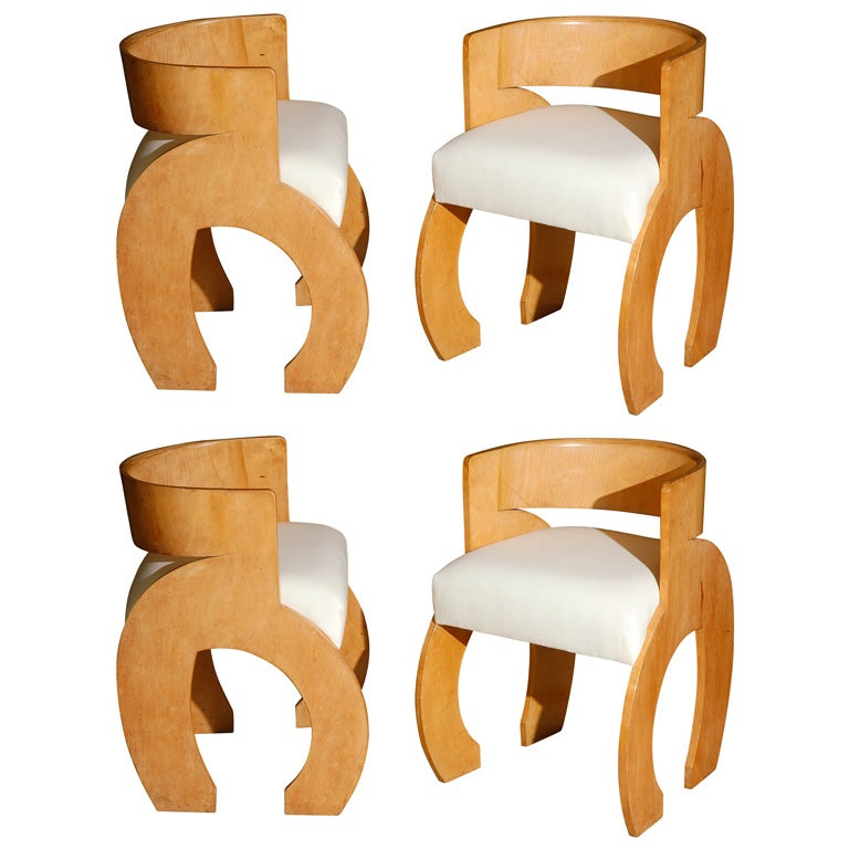 Set Of Four Gerald Summers Dining Chairs At 1stdibs
