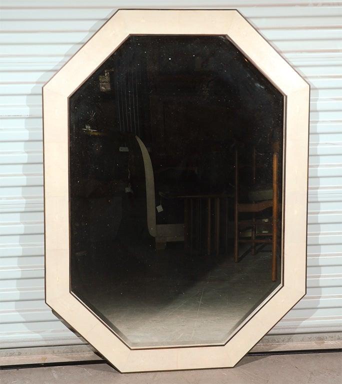 Shagreen Elongated Octagonal Mirror At 1stdibs