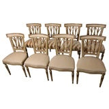 Set of Eight Italian Dining Chairs