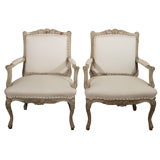 Pair of 19th Century French Bergere Chairs