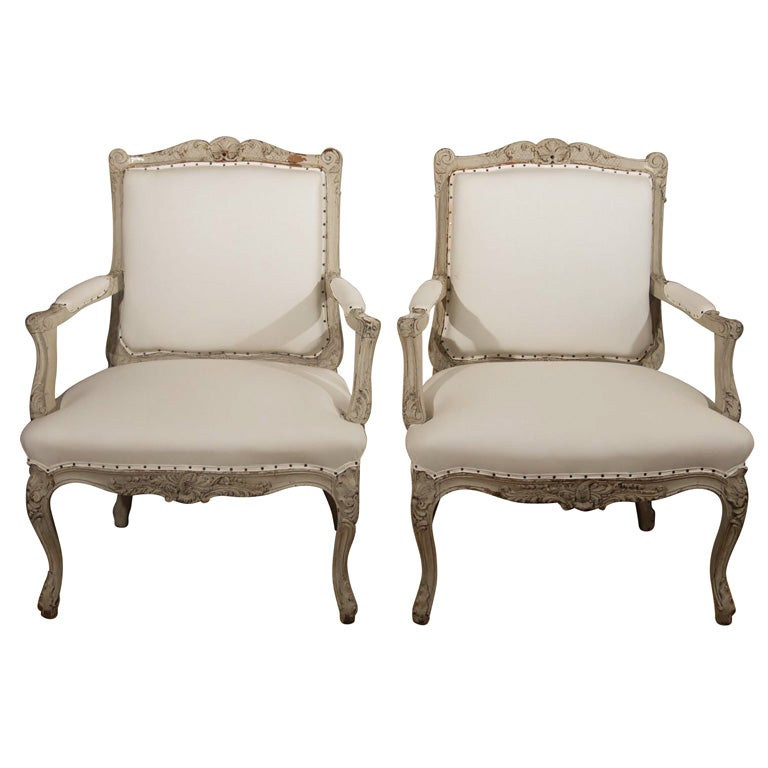 Pair of 19th Century French Bergere Chairs For Sale