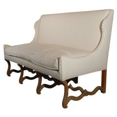 "Beautiful ""Os de Mouton"" Sofa"