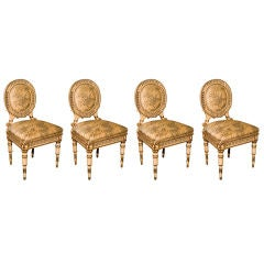 Set of Four Directoire Style Antique Dining Chairs