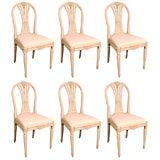 Six Swedish Dining Chairs