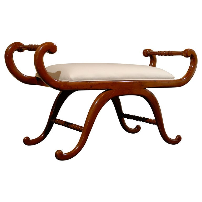 Bench With Curved Arms And Curved Legs At 1stdibs