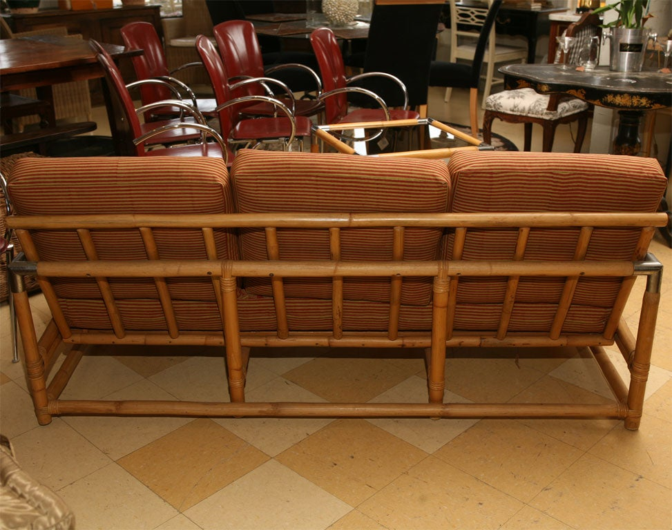 Mid Century Ficks Reed Bamboo Sofa and Table at 1stdibs
