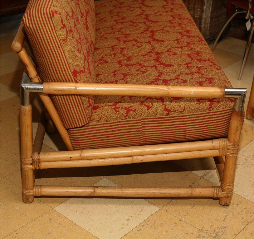 Mid Century Ficks Reed Bamboo Sofa And Table At 1stdibs