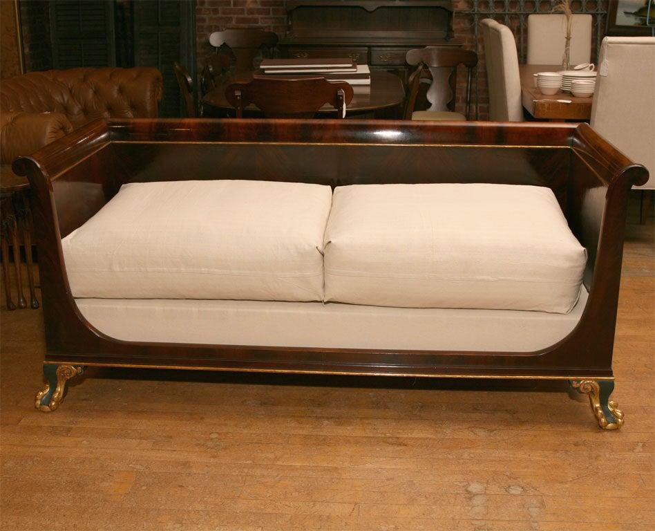 Empire Style Box Sofa At 1stdibs