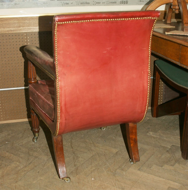 Antique Library Chair At 1stdibs