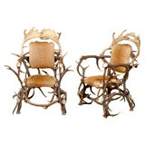 Black Forest Horn Chairs