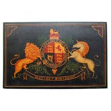 Painted Regency coat of arms on panel, c.1820