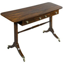Regency faux rosewood writing table. c.1800