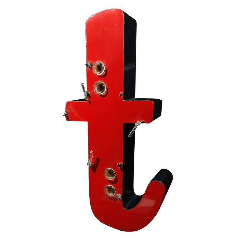 Large porcelain letter t from a neon sign at 1stdibs for Large neon letters