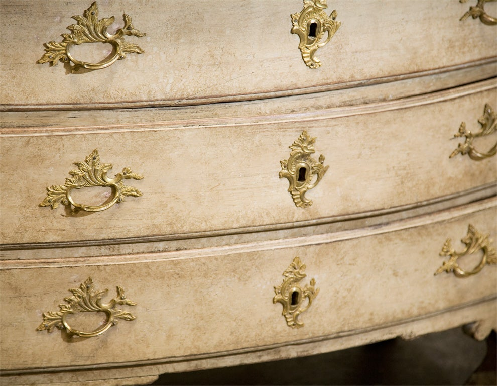 Hand-Painted Dated 18th Century Swedish Gustavian Chest of Drawers with Original Paint For Sale