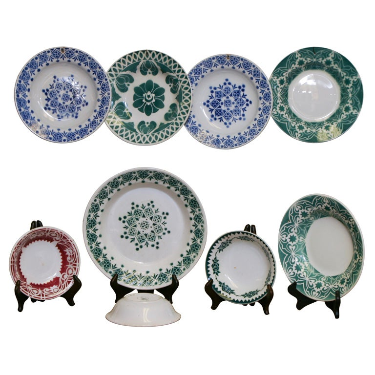 Group of French plates For Sale