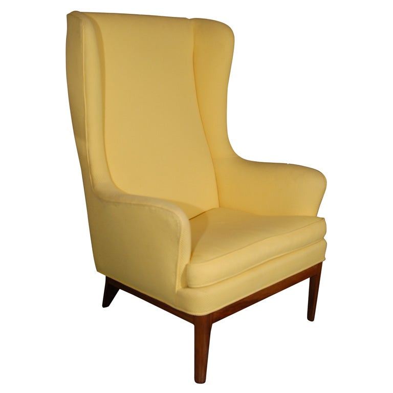 Arne Norell Modern Wing Chair At 1stdibs