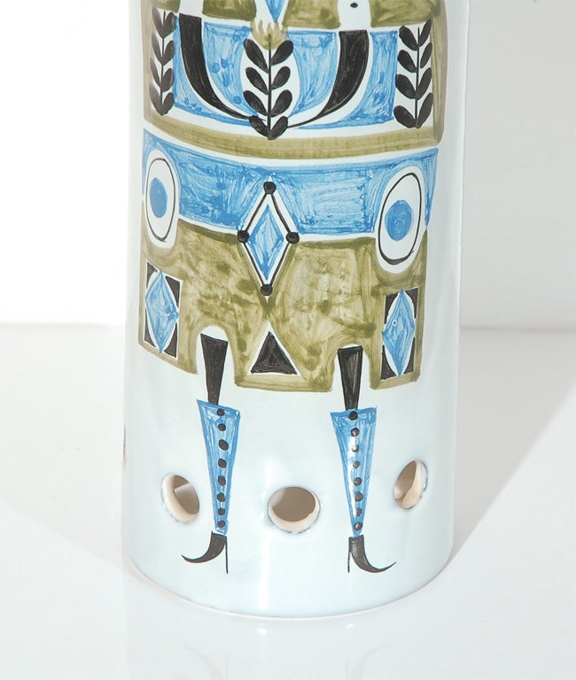 French Ceramic Lamp Shade by Roger Capron For Sale