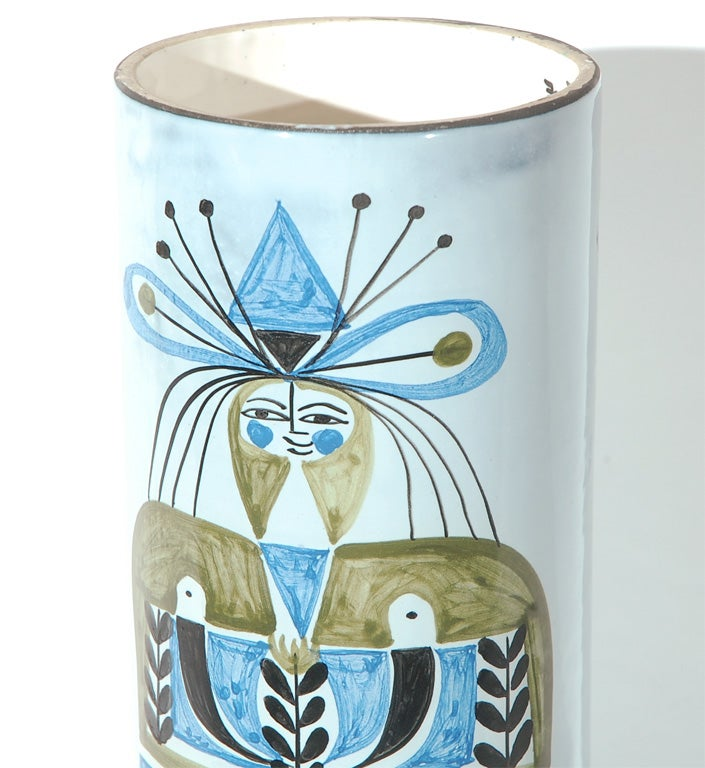 Mid-20th Century Ceramic Lamp Shade by Roger Capron For Sale