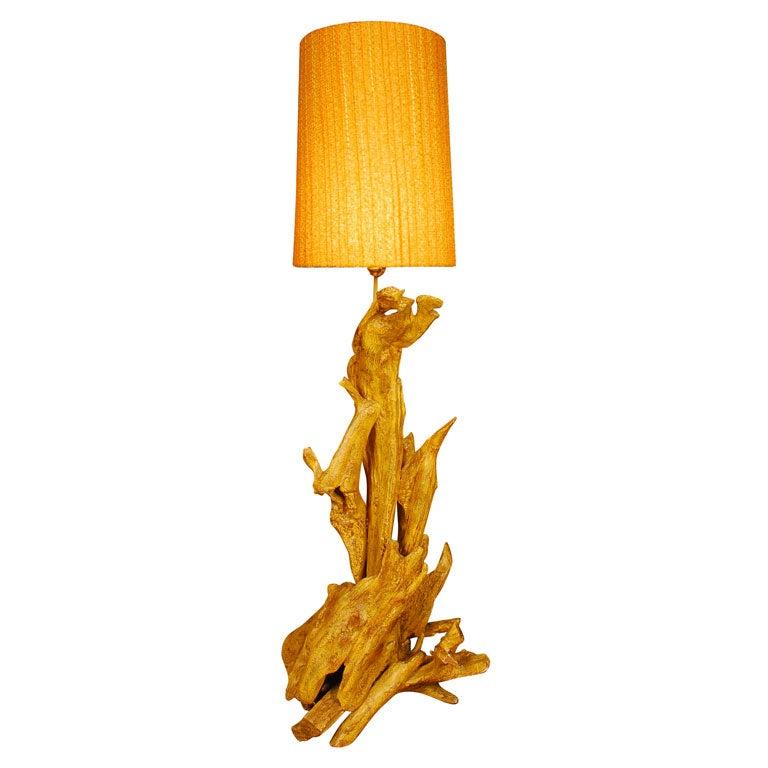 unique driftwood floor lamp for sale at 1stdibs. Black Bedroom Furniture Sets. Home Design Ideas