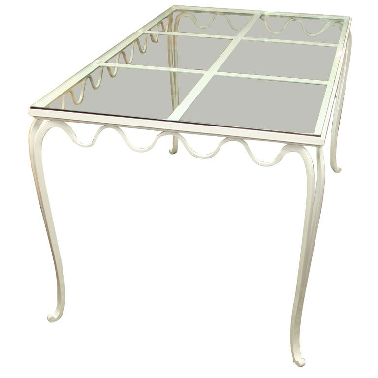 Royere Style French Wrought Iron Table For Sale