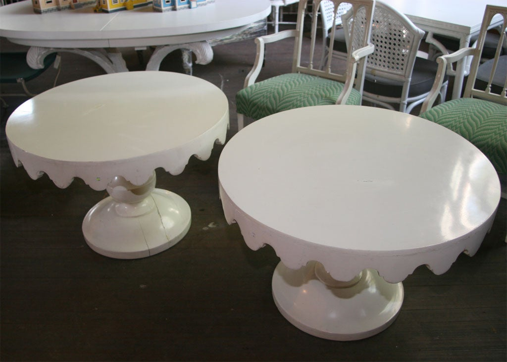 Mid-20th Century Pair of Original Dorothy Draper Tables For Sale