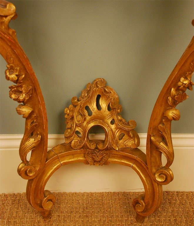 Louis XV Style Giltwood Console Table In Good Condition For Sale In Charleston, SC