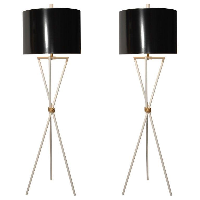 Pair of 1960's Decorative Floor Lamps