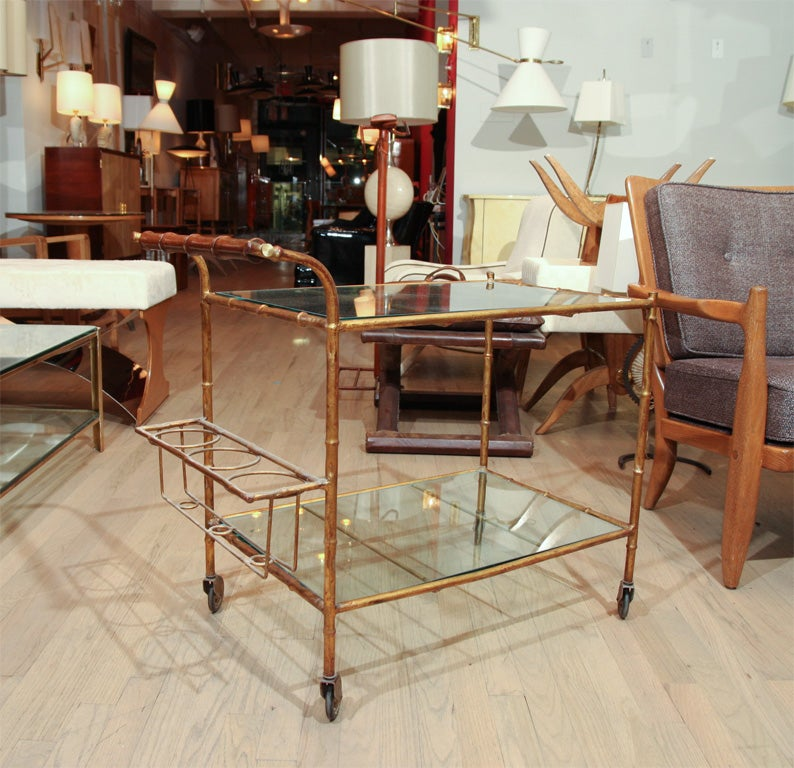 Elegant Faux Bamboo Bar At 1stdibs