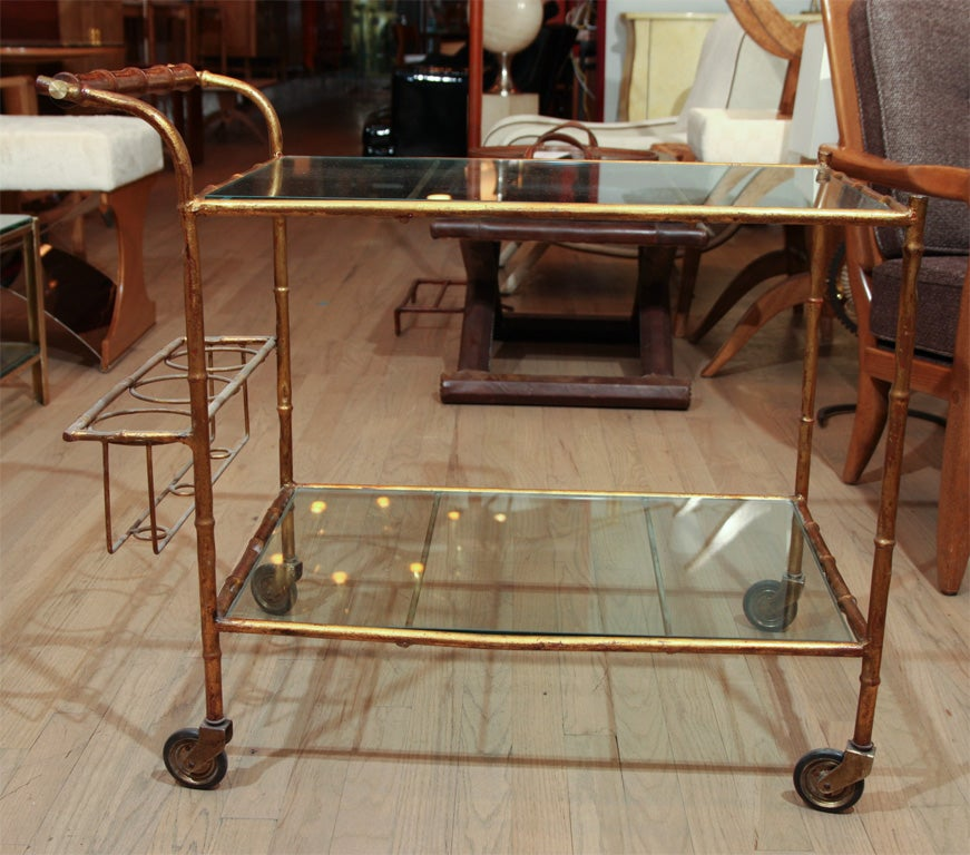 20th Century Elegant faux bamboo bar For Sale