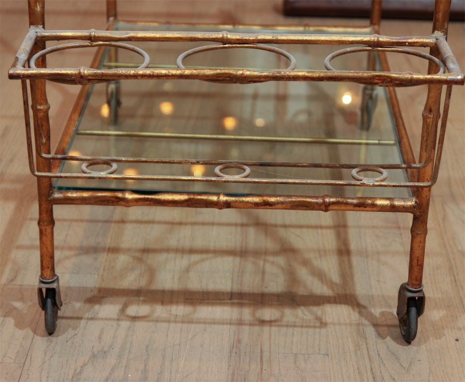 Elegant faux bamboo bar For Sale 1