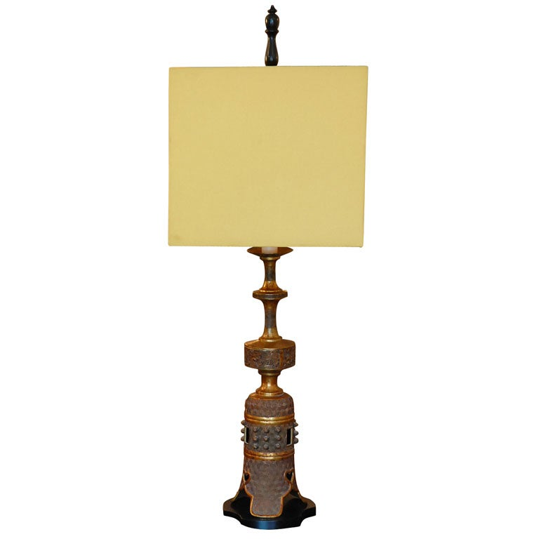 Tall Bronze Oriental Style Table Lamp By Marbro For Sale At 1stdibs
